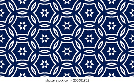 Abstract seamless pattern in Moroccan style, vector background