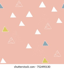 Abstract seamless pattern, nordic design, vector illustration