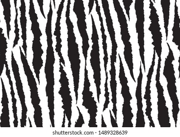 Abstract seamless pattern on white background. Tiger skin vector illustration background. Seamless wild safari pattern. Trendy fashion print background.