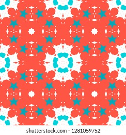 """Abstract seamless pattern. Сolor palette """"Coral Reef"""". Soft warm colors. Tile for floor, ceiling, wall, bathroom, kitchen, living room, vinyl surface, napkin, paper, etc."""