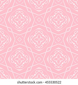 Abstract seamless pattern of pink color for wallpapers and background.