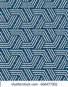 Abstract seamless pattern of a plurality of triangles and stripes. Textured background.