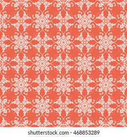 Abstract seamless pattern of red color for wallpapers and background.