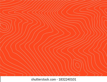 Abstract Seamless Pattern with Salmon Fish Fillet Texture. Vector Background for Fish Packaging, Sushi Restaurants and Menu Design