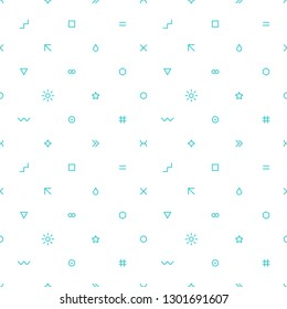Abstract seamless pattern with simple shapes created in flat thin style. Graphic element for design saved as an vector illustration in file format EPS 8