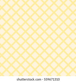 Abstract seamless pattern with squeres. Ligth yellow background with stripes.