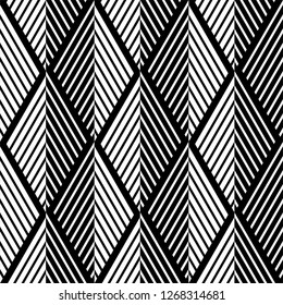 Abstract seamless pattern. with Stripes, lines. Geometric vector background. Black and white texture. Graphic modern pattern.