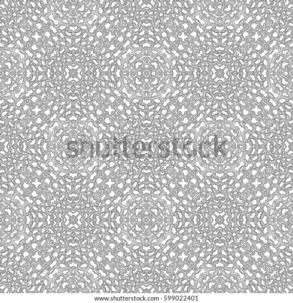 Abstract seamless pattern, tile design, hand drawn illustration, vector