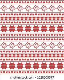 Abstract seamless pattern with traditional slavic ornament from Russia