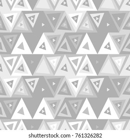 Abstract seamless pattern of triangles. Funny background of geometric shapes.