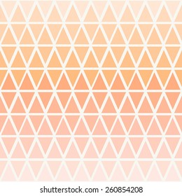 Abstract seamless pattern with triangles in ombre pastel peach pink.
