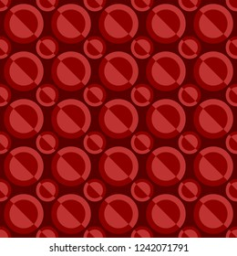 Abstract seamless pattern - vector circle design background