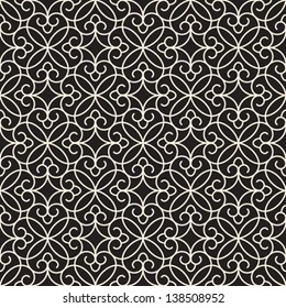 Abstract seamless pattern, vector lace texture