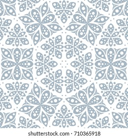 Abstract seamless pattern in vintage style. Interlocking shapes and textures.
