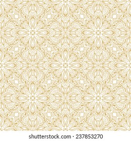 Abstract seamless pattern.Gold and white background.Vector illustration.