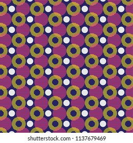 Abstract seamless retro vector background