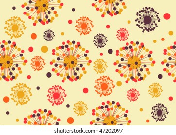 Abstract seamless retro-styled background
