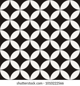 Abstract seamless star geometric pattern like leaves and flowers. Vector endless illustration