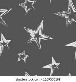 Abstract seamless stars pattern for boy, girl,  fashion and sport clothes, wrapping paper