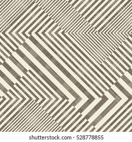 Abstract seamless striped  geometric  pattern on texture background in brown and beige colors. Endless pattern can be used for ceramic tile, wallpaper, linoleum, textile, web page background.