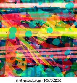Abstract seamless texture. Colorful pattern with stripes and blots. Vector background for web page, banners backdrop, fabric, home decor, wrapping