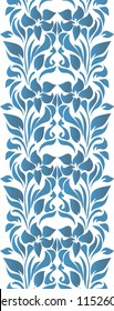 Abstract seamless tradition watercolor pattern for fabric, ceramic, wallpaper. Floral gzhel ornament