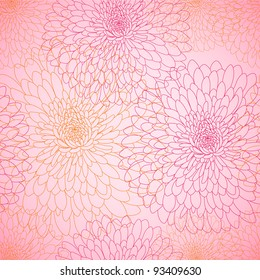 Abstract seamless wallpaper with flowers