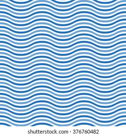 Abstract Seamless wave striped pattern. Vector illustration