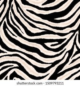 Abstract seamless zebra skin pattern