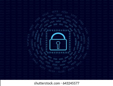 Abstract security encrypt data concept and message digest