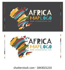 abstract set africa logo design template