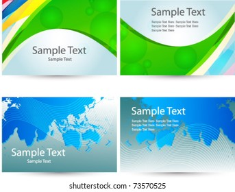abstract set of business card