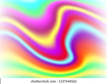 abstract shades colorful holographic foil background.beautiful vector