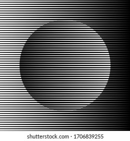Abstract shape with black lines. Op art. Trendy design element for logo, tattoo, web pages, prints, posters, template, pattern and abstract background