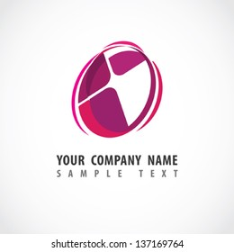 Abstract shape. Corporate icon. Vector.