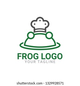 The abstract shape of a frog. Modern, simple and minimalist style for your brand