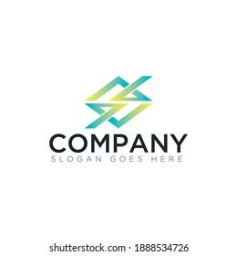 Abstract shape logo for company name