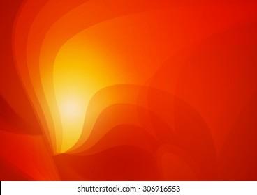 Abstract Shape Orange Background, Vector Illustration