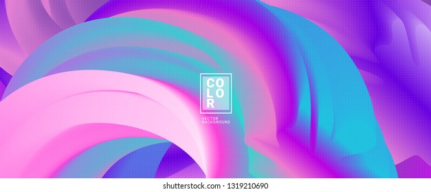 Abstract shape wave 3d Colorful Gradient Background. Vector, WAVE DYNAMIC, DOTTED, Pastel colors, layout template