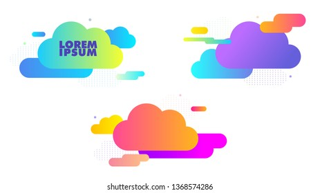 Abstract shapes clouds. coloful clouds.Abstract clouds icon.