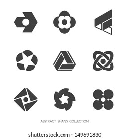 Abstract Shapes Collection. Vector icons set.