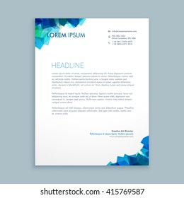 abstract shapes letterhead design
