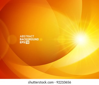 Abstract shapes swirl and light vector background. Eps 10.