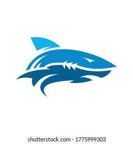 Abstract Shark Logo Design Template