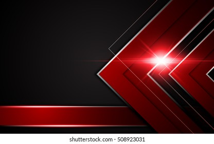 abstract sharp metallic frame red black sports gamer concept background layout design