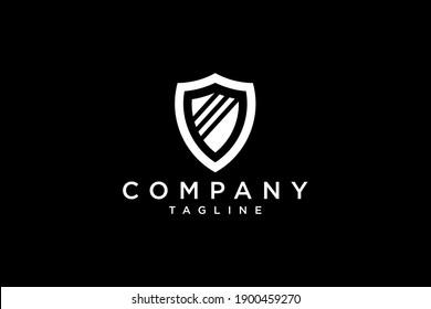 abstract shield vector design logo