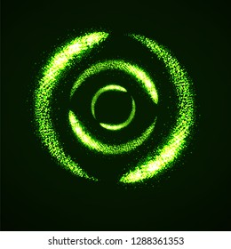 Abstract shine dust, glowing circles with lights particle. Vector