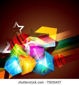 abstract shiny artwork. Eps10 background