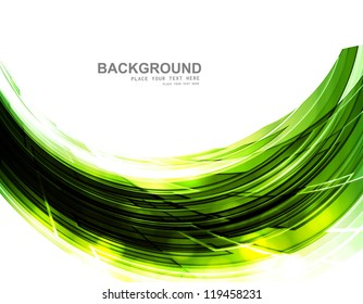 abstract shiny green technology stylish wave whit background vector