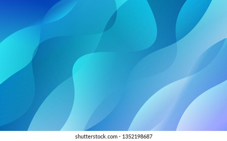 Abstract Shiny Waves. For Cover Page, Landing Page, Banner. Vector Illustration with Color Gradient